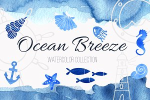 Ocean Breeze Watercolor Collection