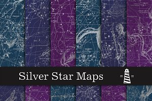 Silver Star Map Backgrounds