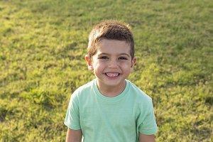 Closeup portrait of adorable child