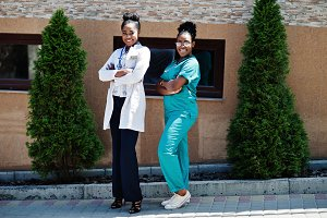 Two african american doctors female