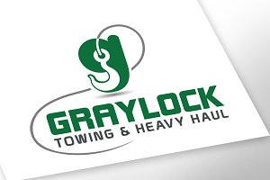 Towing logo with G letter