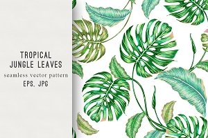 Tropical leaves floral pattern