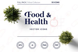 Food & Health icons