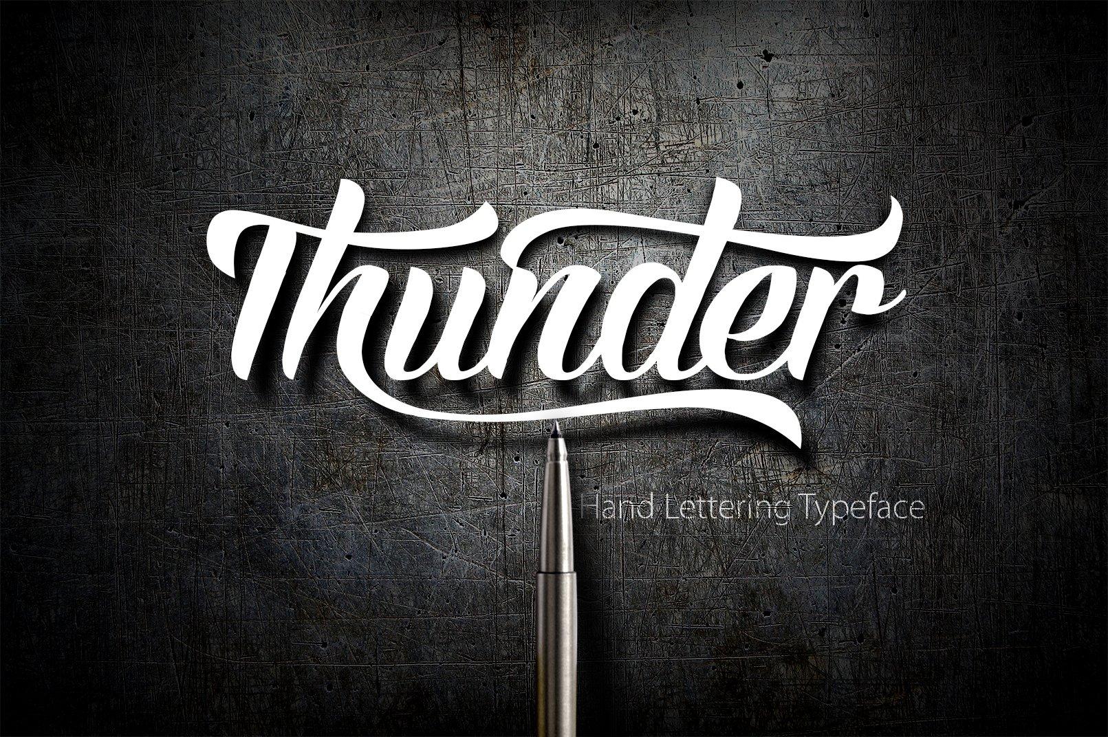 Thunder Script Fonts Creative Market