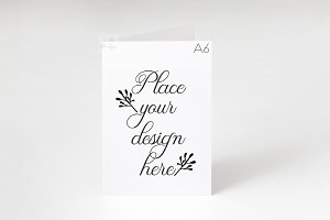 Greeting Card A6 A5 mockup psd smart