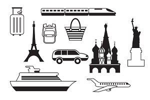 Simple travels icons