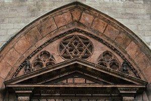 Tympanum at Burgos Cathedral, Spain