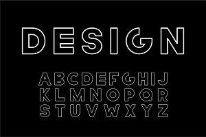 Vector designer font - bold letters.
