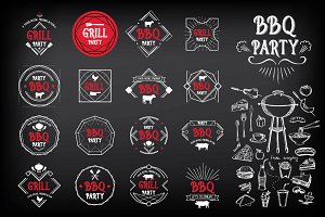 BBQ party badges