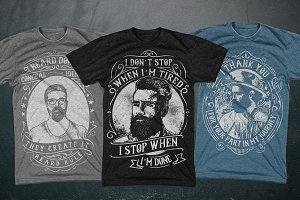 3 Beard and Mustache T-Shirts
