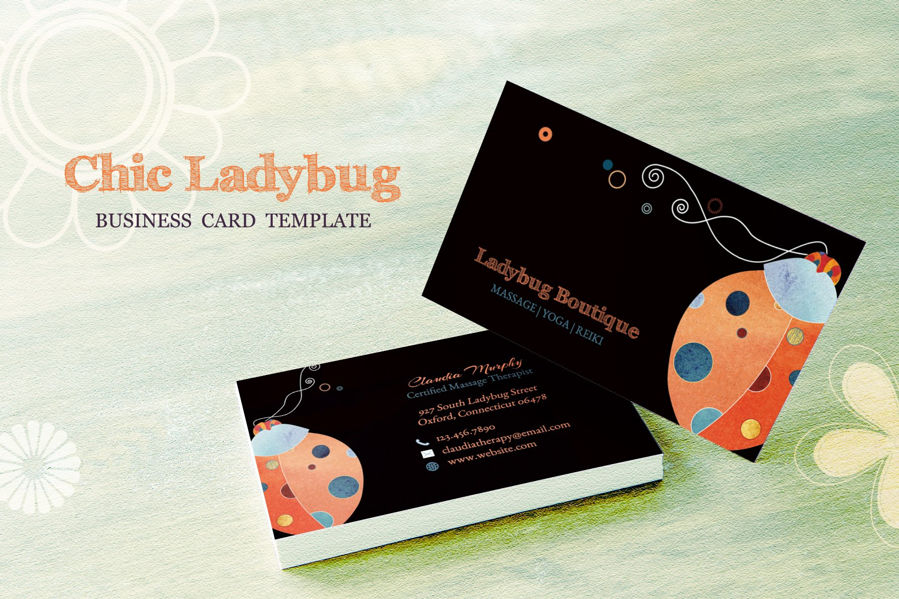 Ladybug business card template business card templates creative ladybug business card template business card templates creative market colourmoves