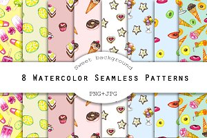 Watercolor Sweet collection pattern
