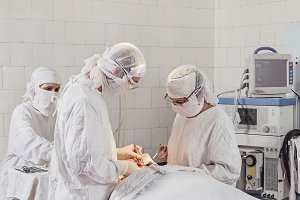 Working time in the operating room.