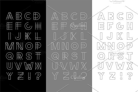 Set of vector english alphabets.