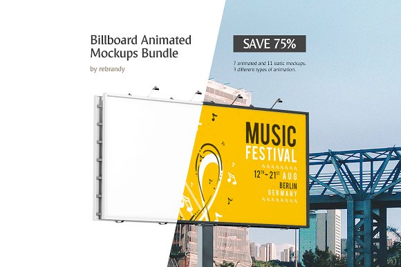 Download Billboard Animated Mockups Bundle