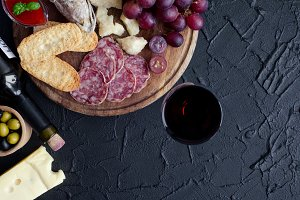 Wine with appetizers