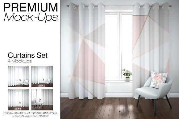 Download Curtains Mockup Set