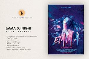 Emma DJ Night Flyer