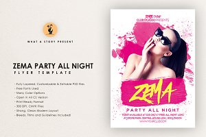 Zema Party All Night Flyer