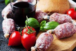 Delicious italian salami