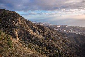 Tenerife mountain landscape.