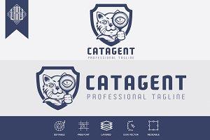 Cat Detective Agent Logo