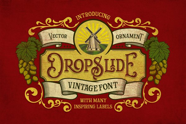 Fonts: Graptail - Dropslide Typeface