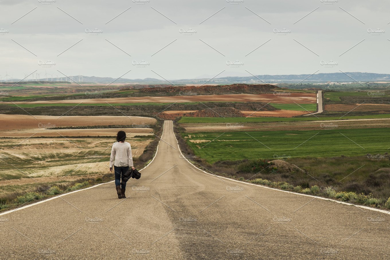 Woman walking alone in a road ~ Nature Photos ~ Creative ...