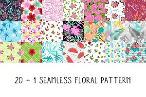 20+1 Floral Seamless Pattern