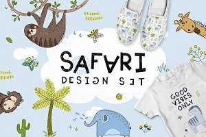 Safari. Design set.