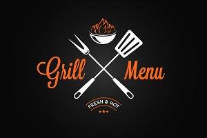 Grill logo vintage emblem.