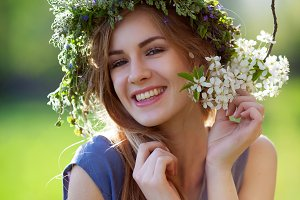 beautiful girl smiling