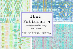 Ikat Ethnic Pattern Set 4