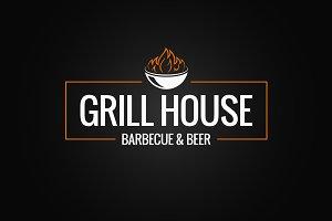 Grill logo border.