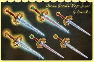 Magic swords game accets set