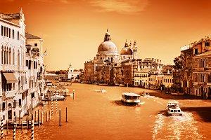Venice, Italy. Monochrome gold