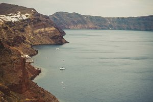 View on Santorini island, cyclades