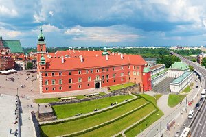 Panorama of Warsaw old town