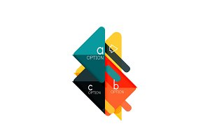 Triangle data visualization design