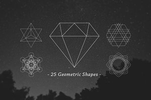 25 Outline Geometric Shapes