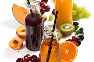 Fresh juice, mix summer fruits and b