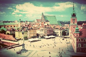 Old town in Warsaw, Poland