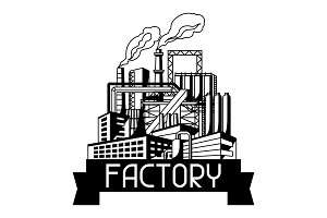 Industrial factory background.