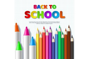 Back to school typography design