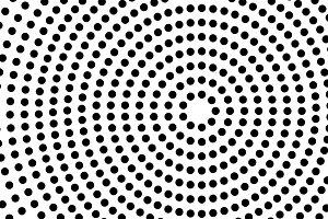 Circles shape a black and white tunn