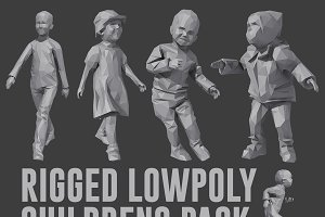 Rigged Lowpoly Childrens Pack