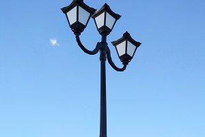 Street lantern lamp blue sky photo