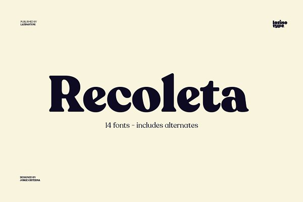 Display Fonts: Latinotype - Recoleta - Intro Offer 70% off