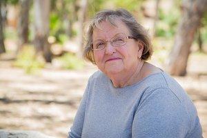 Happy Content Senior Woman Portrait