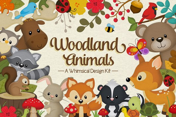 Woodland Animals Design Kit